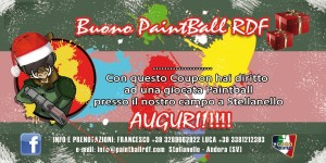 Buono regalo natale paintball